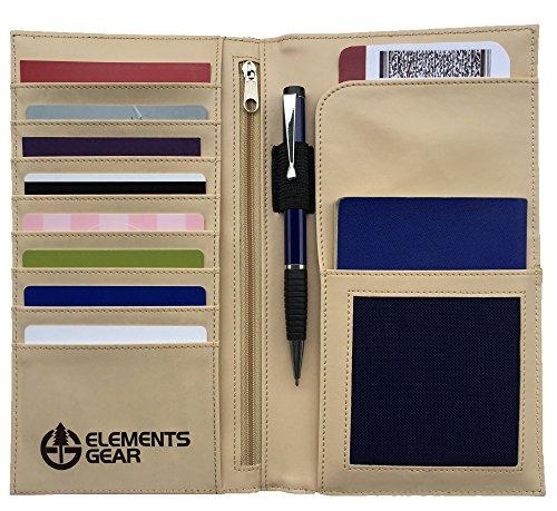 ID-Portafoglio da viaggio, Organiser per documenti, Portafoglio da viaggio per passaporto, biglietti, pensioni, RFID sicuro