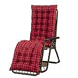 YIERMA Cojín reclinable de algodón suave para sofá o tumbona, cojín cómodo, respaldo de jardín, respaldo alto, cojín de asiento con funda antideslizante para relajantes de vacaciones
