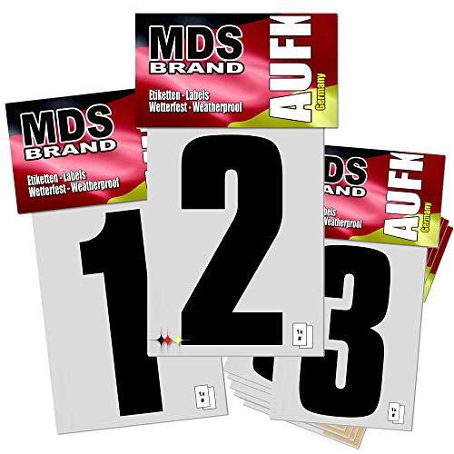 8cm Zahlen 0-9 Pack Selbstklebend Nummern Ersatzziffern in Schwarz (0-9 Pack)