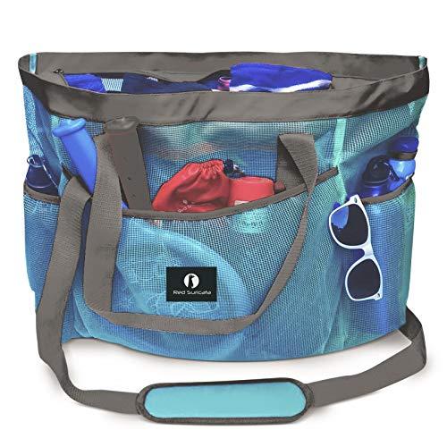 Red Suricata Mesh Beach Bag