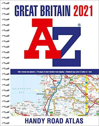 Great Britain A-Z Handy Road Atlas 2021 (A5 Spiral)