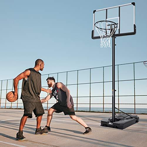 MaxKare Basketballkorb Tragbares Basketballtor im Freien mit 48-Zoll-Rückenbretthöhe Einstellbar von 7 Fuß 5 Zoll bis 10 Fuß Platzausrüstung mit Rädern für Erwachsene Kinder im Innenbereich