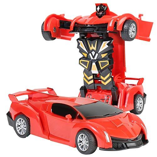 jieGorge Juguete Educativo, 1:32 The Collision Car, Coche de deformación para niños, Robot de Juguete para niños, Juguetes y Pasatiempos (Rojo)