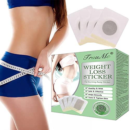 Slimming Patch, Weight Loss Sticker, Slim Patch, Anti Cellulite & Fat Burning Quick Slimming Patch für Bierbauch, Eimer Taille, Bauchfett Taille, Starke Wirksamkeit und Sicherheit(30 Stück)