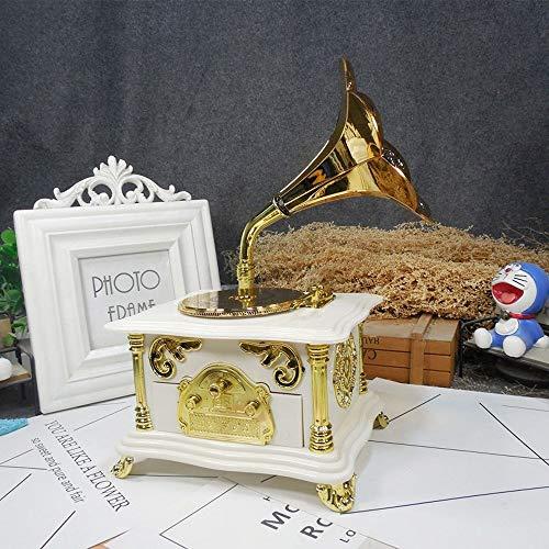 Violon Retro Projecteur de Film phonographe Machine à Coudre Boîte à Musique Ballerine Boîte à Bijoux Cadeau d'anniversaire Boîte à Musique MJZGYY (Color : Phonograph Brown, Size : Libre)