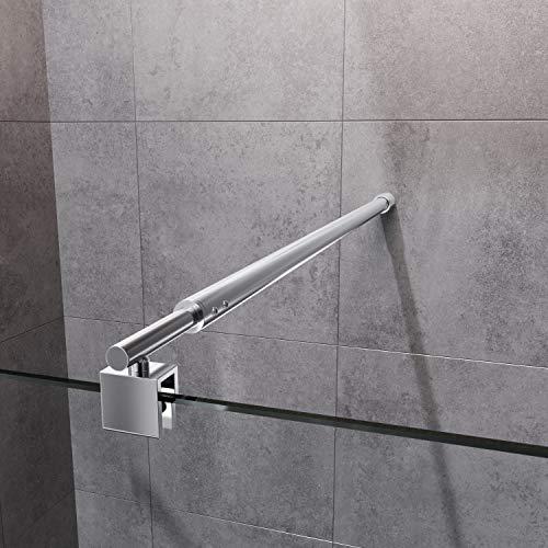 SONNI Barra Telescópica de 120cm,Estabilizador Extensible para Mampara de Ducha,Compatible con Cristal de 5 mm a 10 mm,Brazo de Apoyo de acero Inoxidablede y de Cromo Pulido