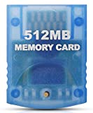 VOYEE Memory Card Replacement for Gamecube Memory Card, 512M Memory Card Compatible with Nintendo Gamecube and Wii Console- Blue