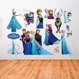 Frozen Wall Sticker Children's Cartoon Bedroom Background Wall Decoration Self-Adhesive Wall Sticker PVC