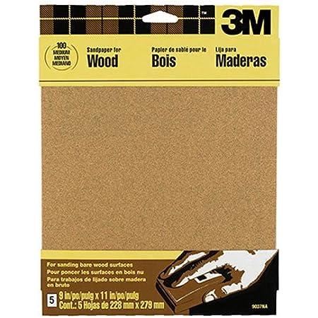 3M Garnet Sandpaper, Very Fine Grit, 9-Inch by 11-Inch, 5-Sheet