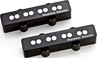 Seymour Duncan SJB-3 Quarter Pound Jazz Bass Pickup Bridge position Single coil Pickup for Jazz Bass BUNDLE with 2 x Senor Guitar Patch Cable | 12 Pack Guitar Picks Variety Pack and Zorro Sounds Cloth