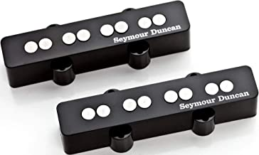 Seymour Duncan SJB-3 Quarter Pound Jazz Bass Pickup Bridge position Single coil Pickup for Jazz Bass BUNDLE with 2 x Senor Guitar Patch Cable   12 Pack Guitar Picks Variety Pack and Zorro Sounds Cloth