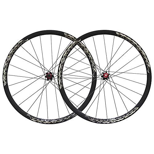 Ruedas de bicicleta, Ruedas MTB de aleación de fibra de carbono, bujes de liberación rápida, delantero 100 mm trasero 135 mm, 24 agujeros/A / 26 Inch