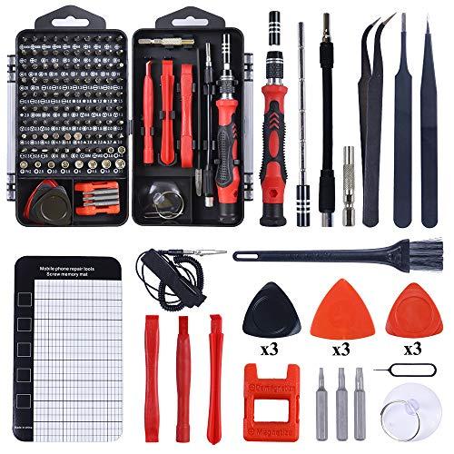 Kit de herramientas de reparación de teléfonos móviles multifunción dispositivos electrónicos herramientas manuales 122 en 1 destornillador magnético (112 en 1)