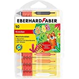 Eberhard Faber 521009 - Colori Wachsmalkreide in 10 leuchtenden Farben, mit Schiebehülse und Rutschbremse, wasserfest, in Kunststoffbox