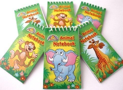 Lot de 12 mini-carnets à spirale pour pochettes surprises pour enfants Thème Jungle