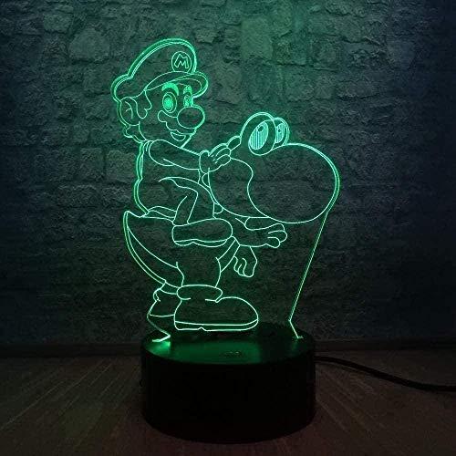 Lámpara 3D ilusión de lámpara LED, lámpara de noche con rollo Frozen Elsa, crema gláctea, belleza niña, bebé, historia, sueño, lámpara para la decoración de la habitación para niños N26-N2