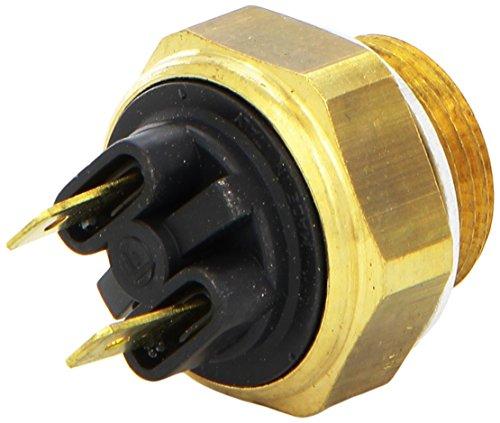HELLA 6ZT 007 800-041 Temperaturschalter, Kühlerlüfter - 12V - Anschlussanzahl: 2 - Flachstecker - geschraubt - Gewindemaß: M 22 x 1,5 - Schließer