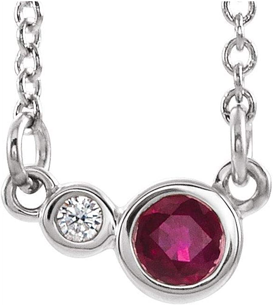 Solid Platinum Solitaire Created Mail order cheap Ruby Charm Cttw and .03 Diamond Rare