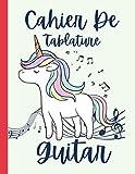 Cahier De Tablature Guitare: Cahier de Musique Vierge pour Guitare | Tablatures et diagrammes d'accords | Carnet de partitions vierges pour guitaristes | Format A4 (21 cm x 29,7 cm), 120 Pages
