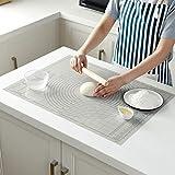 JIAli Silicone Pastry Mat BPA Libero, Extra Spessa Antiaderente Cottura Mat con la Misura, Mat Contatore, Pasta Mat rotolamento 46.5x61.5cm