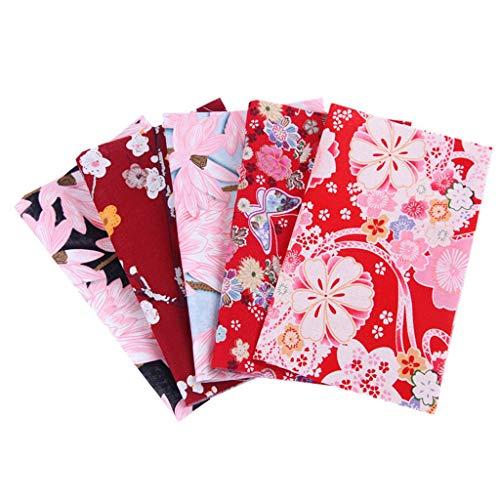 JIekyoi 5PC Paquete de Tela Artesanal de algodón Patchwork Patchwork Acolchado Patchwork DIY, Facial Protección Cubrir para Hombres Y Mujer, Reutilizable, Lavable, Pantalla Protectora Cara