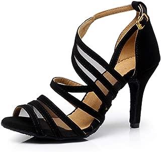 "Ballroom Dance Shoes Women 2.3"" Dancing High Heel Salsa Shoe Latin Sandal Pumps"