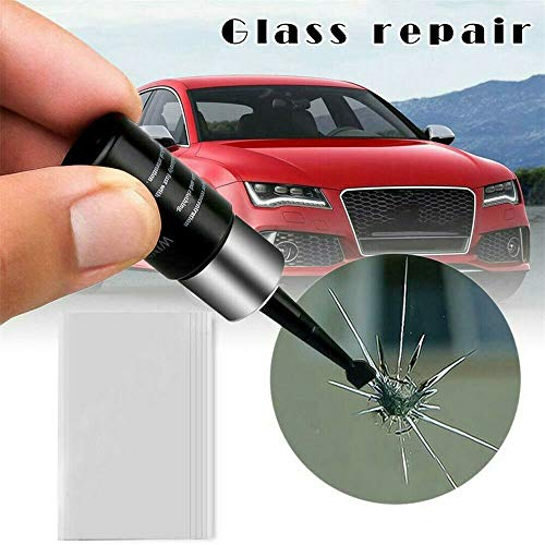 BlackSwan Kfz-Glas-Nano-Reparaturflüssigkeit, Autofensterglas-Riss-Chip-Reparatur-Werkzeugsatz