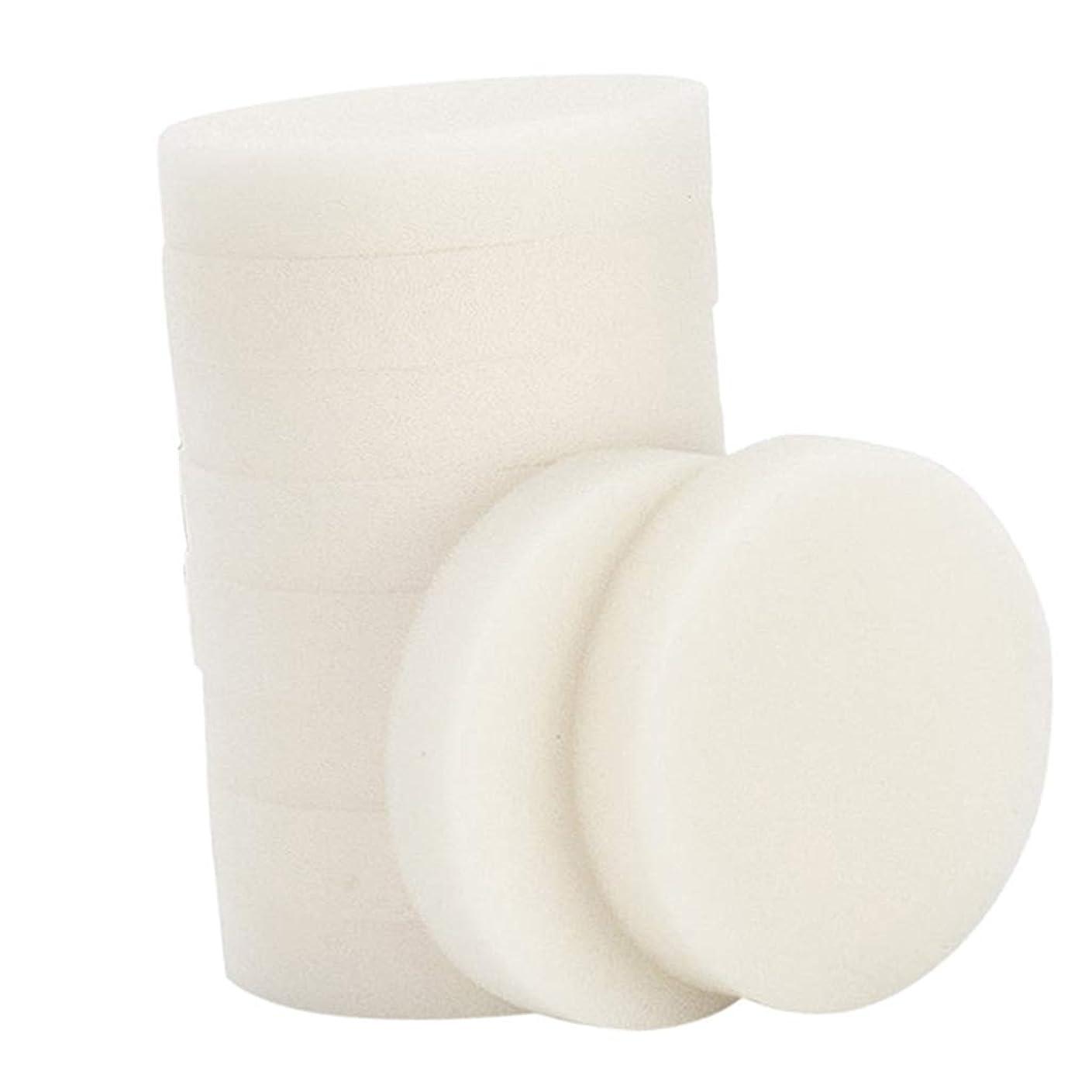 ライナーありふれた記念P Prettyia 10個 メイク落とし 使い捨て 洗顔パフ 通気性 洗顔スポンジ メイクアップパフ 2サイズ選べ - 小