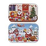 LIOOBO 2 Set Navidad Rompecabezas de Madera Nieve Suelo Chimenea Rompecabezas de Madera Juguete Educativo temprano para DIY Fiesta de Navidad Regalo de los niños