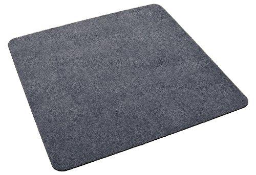 Deko-Matten-Shop Fußmatte Classic, Schmutzfangmatte, quadratisch, 90x90 cm, grau, in 9 Größen und 11 Farben