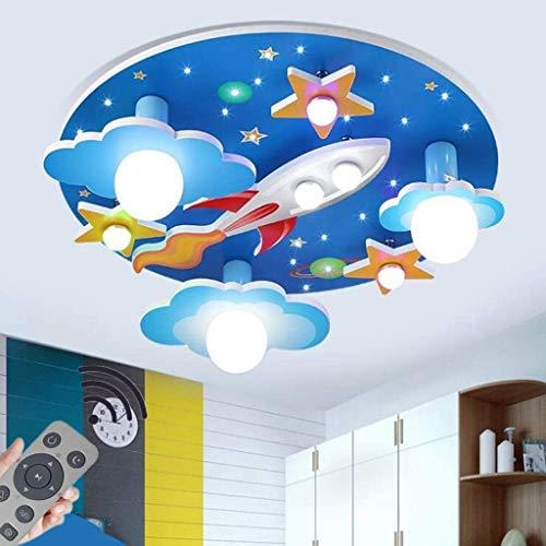 YSNJG Los niños de Techo del LED, lámparas de iluminación Avión animación Creativa, de Techo Regulable de la lámpara para la Sala de Las niñas de Cama/Sala de Estar/Nursery