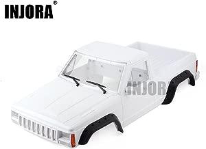 INJORA Unpainted 313mm Wheelbase Cherokee Pickup Truck Car Shell Kit for 1/10 RC Crawler Axial SCX10 & SCX10 II 90046 90047