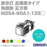 オムロン(OMRON) M2SA-90A1-12SO 形M2S 表示灯 超高輝度タイプ (角胴形) (正方形) (橙) NN