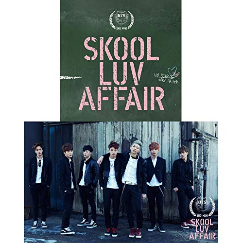 BTS Skool Luv Affair 2nd Mini Album Bangtan Boys CD+Photobook+Photocard+Gift (Extra 6 Photocards And 1 Double-Sided Photocard Set)