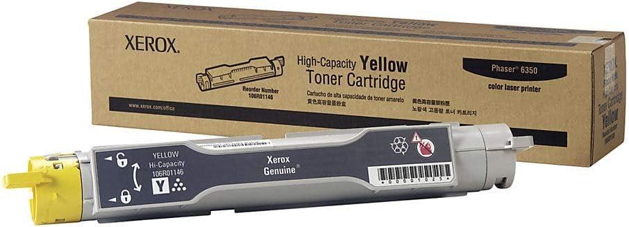 Xerox 106R01146 Phaser 6350 Toner-Cartridge (Yellow) in Retail Packaging