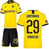 PUMA Borussia Dortmund BVB Heimset 2019 2020 Home Kit Trikot Shorts Kinder Marcel Schmelzer 29 Gr 176