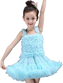 Beautiful Dance Skirt Blue/Pink Girl Skirt Prom Ballet Skirt Stage Performance Clothing Fashion (Color : Sky Blue, Size : 100)