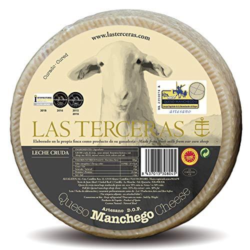 Las Terceras queso manchego curado artesano DOP 2500 gr