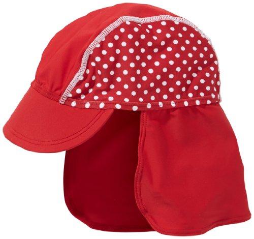 Playshoes Baby-Mädchen UV-Schutz Punkte Mütze, rot, 53cm