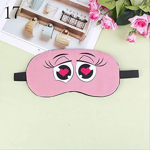 Augenmaske zum Schlafen Lustig, Fashion Cute Cartoon Schlafmaske, Natural Relax Schlafaugenmaske, Für Männer, Frauen Und Kinder PINK8