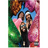 DNJKSA Flatbush Zombies Vacation in Hell Rap Album Poster Print on Canvas HD Art Poster Living Room Decoration Wall Art Canvas Painting Home Decor -50x75cm No Frame