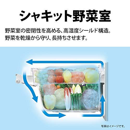 シャープ冷蔵庫310L(幅56cm)プラズマクラスター搭載2ドアメガフリーザーホワイト系SJ-AK31F-W