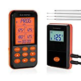 Inkbird IRF-4S Wireless Kitchen Cooking Food Thermometer for Grill Oven Smoker BBQ Meat