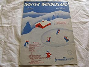 Winter Wonderland Dick Smith 1953 Sheet Music