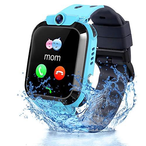 Smartwatch per Bambini, IP68 Impermeabile Orologio Intelligente Bambini con LBS Anti-perso Chat Vocale SOS Camera Modalità Classe Gioco Sveglia Touchscreen Smart Watch per Ragazzi e Ragazze