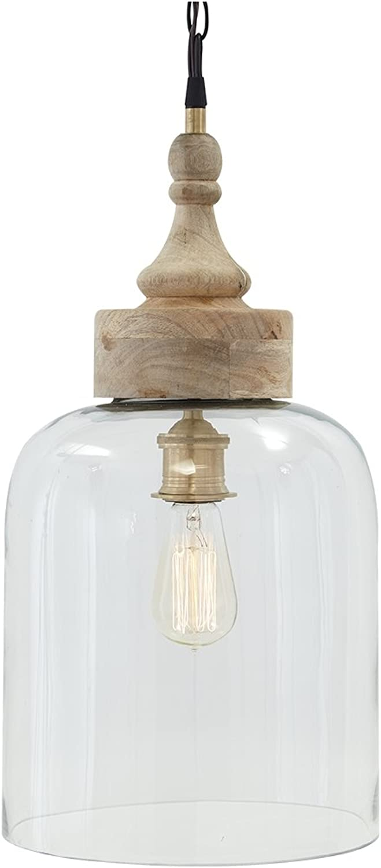 Ashley Furniture Signature Design - Faiz Glass Pendant Light - Bell-Shaped - Clear Glass Shade