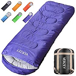 VERZEY Envelope Mummy Camping Sleeping Bag – Waterproof Sleeping Bag