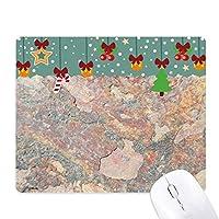 さびた鉄の質感さびラフ ゲーム用スライドゴムのマウスパッドクリスマス