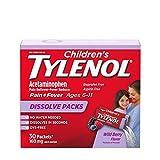 Children's Tylenol Dissolve Powder Packets with 160 mg Acetaminophen, Wild Berry, 30 ct