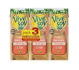 Vivesoy Zumo de Soja y Melocotón - Paquete de 3 x 250 ml - Total: 750 ml - [Pack de 7]